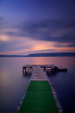 Wooden pier at sea taken with long exposure Royalty Free Stock Photography