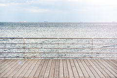 Wooden pier and sea view Stock Image