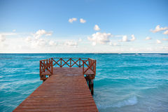 Wooden pier on the shore Royalty Free Stock Images