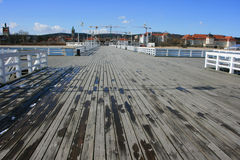 The wooden pier in Sopot Royalty Free Stock Photos