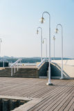 Wooden pier in Sopot. Famous wooden pier in Sopot, Baltic Sea, Poland Royalty Free Stock Images