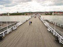 Wooden pier in Sopot. royalty free stock photo