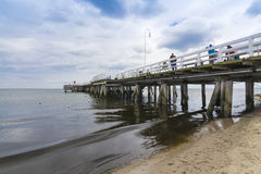 Wooden pier Sopot Royalty Free Stock Photo