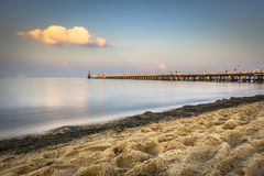 Wooden pier in Sopot, Poland Stock Image