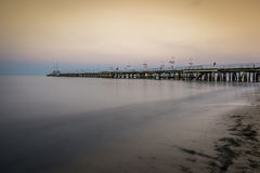Wooden pier in Sopot, Poland Royalty Free Stock Photography