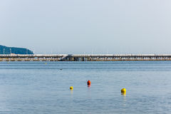 The wooden pier in  Sopot Stock Images