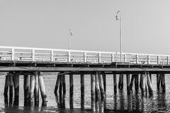 The wooden pier in  Sopot Stock Photo