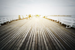 Wooden pier in Sopot, Poland. Stock Photography
