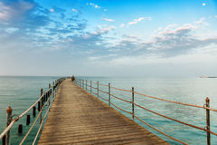 Wooden pier after sunset Royalty Free Stock Photography