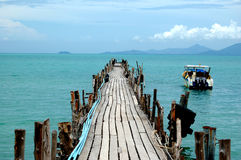 Wooden pier, Thailand Stock Photos