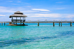 Wooden pier, Thailand. Royalty Free Stock Images
