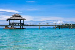 Wooden pier, Thailand. Royalty Free Stock Image