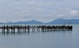 Wooden pier Thailand Royalty Free Stock Photo