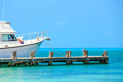 Wooden pier in tropical paradise Stock Image