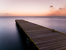 Wooden pier at twilight