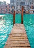 Wooden pier in Venice Stock Image