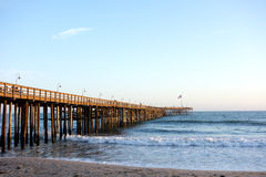 Wooden Pier in Ventura, CA Stock Photography