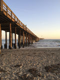 Wooden Pier, Ventura, CA Royalty Free Stock Photos
