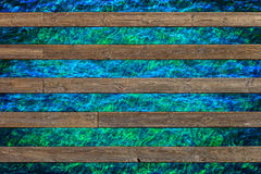 Wooden pier with water Stock Photo