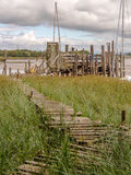Wooden piers Stock Image