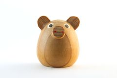 Wooden pig Stock Photography