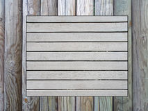 Wooden pinboard. A wooden pinboard of different kind of wood Royalty Free Stock Photos