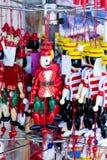 Wooden Pinocchio figures Stock Photos