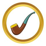 Wooden pipe vector icon, cartoon style Stock Photo