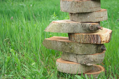 Wooden piramide balance Stock Images