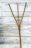 A wooden pitchfork Royalty Free Stock Photos