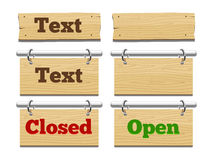 Wooden placeholders for text vector illustration Stock Image
