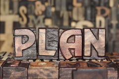 Wooden PLAN concept Stock Photography