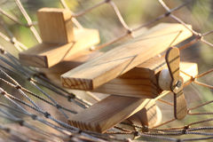 Wooden plane on the ground outdoor Royalty Free Stock Photography