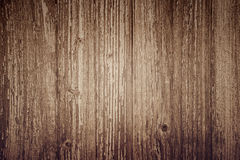 Wooden plank background, brown vertical boards, wood texture, old table (floor, wall), vintage Stock Images