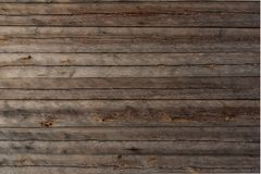 Wooden plank background texture. Old brown wooden plank background texture, horizontal image royalty free stock image