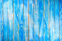 Wooden plank and blue wooden wall. Stock Photography