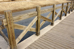 A wooden plank boardwalk Royalty Free Stock Photo