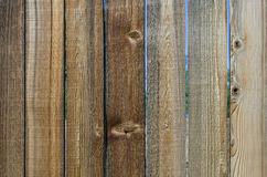 Wooden plank fence showing grain detail. Wooden plank fence with detail for texture or background royalty free stock photography