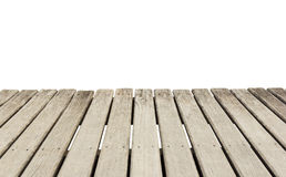 Wooden plank floor  on white background Stock Photo