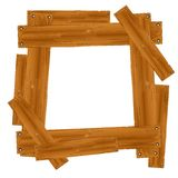 Wooden Plank Frame Border Royalty Free Stock Photos