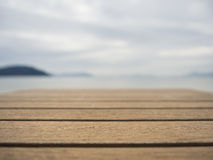 Wooden Plank Island seaside Summer background Stock Photo
