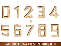 Wooden Plank Numbers Stock Photo