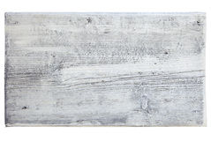 Wooden plank painted white. And isolated on white royalty free stock photos