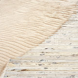 Wooden plank path Royalty Free Stock Images