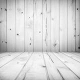 Wooden plank room light black white filter Stock Image