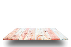 Wooden plank shelves and white background. For product display,Clipping Path stock photo