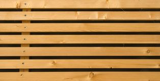 Wooden planks. Parallel wooden panels Royalty Free Stock Photography