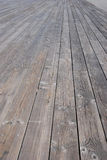 Wooden planks. That make up a large deck Royalty Free Stock Image