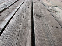 Wooden planks. Perspective view of wooden planks Stock Photos