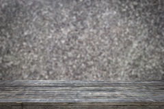 Wooden planks with abstract background, blurred of marble wall for background. Stock Images